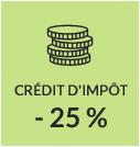 crédit d'impot -25%