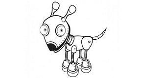 robot chien personne agee