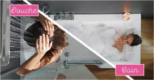 combine baignoire douche